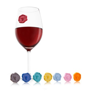 Classic Wine Glass Markers by Vacu Vin (Set Of 8)