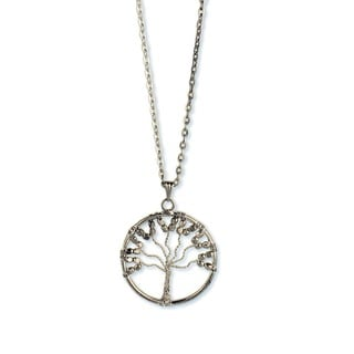 Silverplated Wire Tree Pendant Necklace