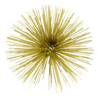 Erizo Gold Large Spiked Sphere Wall Decor