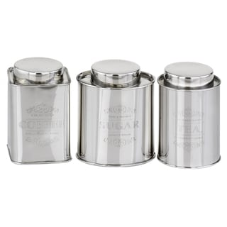 3-Piece Stainless Steel Coffee, Tea & Sugar Canisters