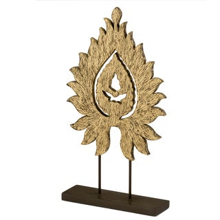 Flama Carved Flame on Stand Decorative Sculpture