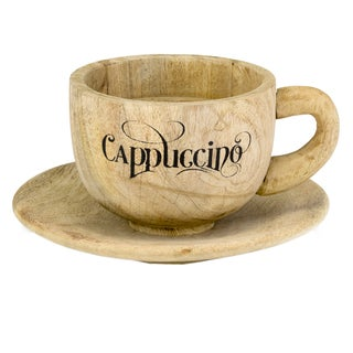 Taza Wood Cappuccino Cup & Saucer