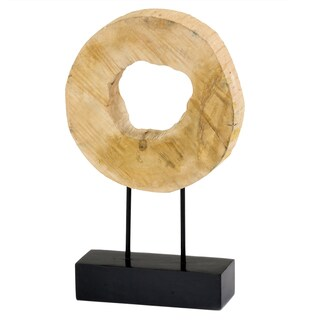 Tronco Ronda Sliced Log on Stand Decorative Sculpture