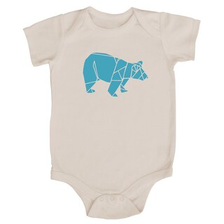 Rocket Bug Origami Bear Baby Bodysuit