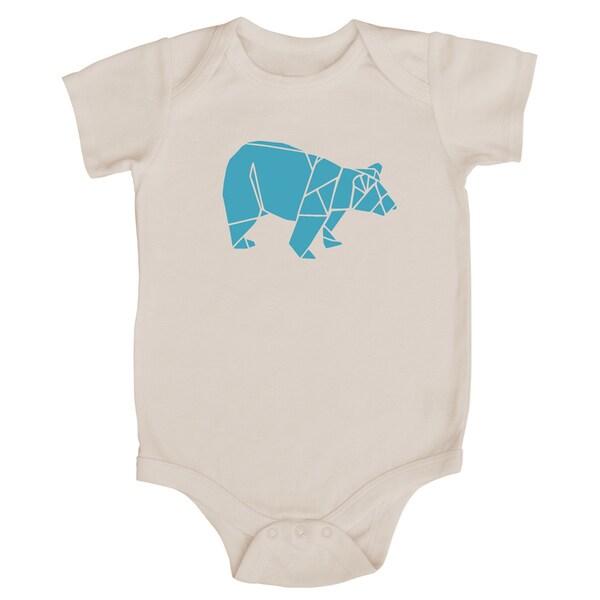 Rocket Bug Origami Bear Baby Bodysuit