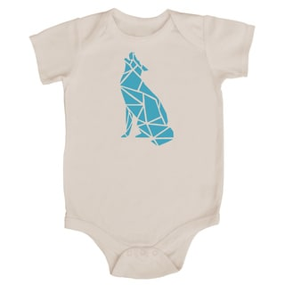 Rocket Bug Origami Wolf Baby Bodysuit