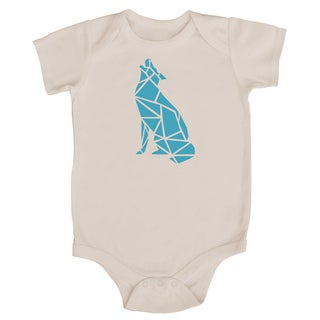 Rocket Bug Origami Wolf Baby Bodysuit (More options available)