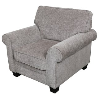 Porter Noelle Gray Chenille Contemporary Transitional Arm Chair