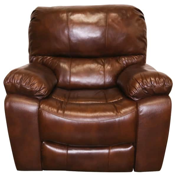 Marvelous Shop Porter Ramsey Cognac Top Grain Leather Power Glider Inzonedesignstudio Interior Chair Design Inzonedesignstudiocom