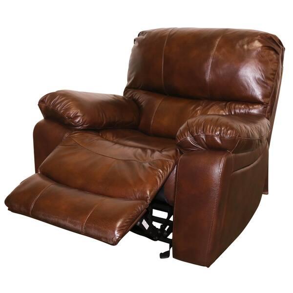 Fantastic Shop Porter Ramsey Cognac Top Grain Leather Power Glider Inzonedesignstudio Interior Chair Design Inzonedesignstudiocom