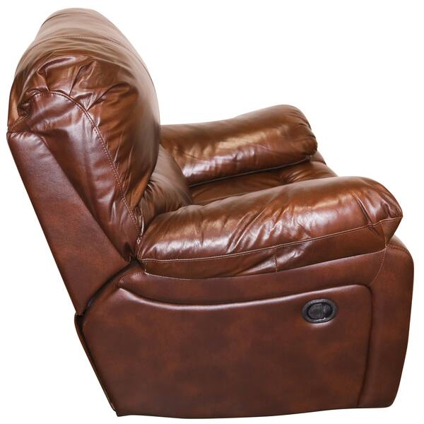 Awesome Shop Porter Ramsey Cognac Top Grain Leather Power Glider Inzonedesignstudio Interior Chair Design Inzonedesignstudiocom