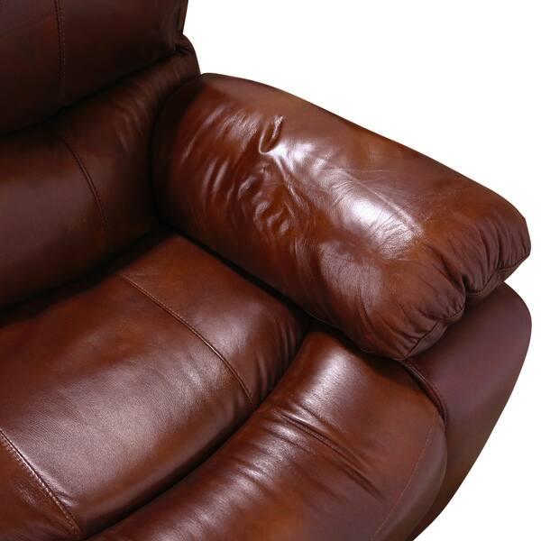 Outstanding Shop Porter Ramsey Cognac Top Grain Leather Power Glider Inzonedesignstudio Interior Chair Design Inzonedesignstudiocom