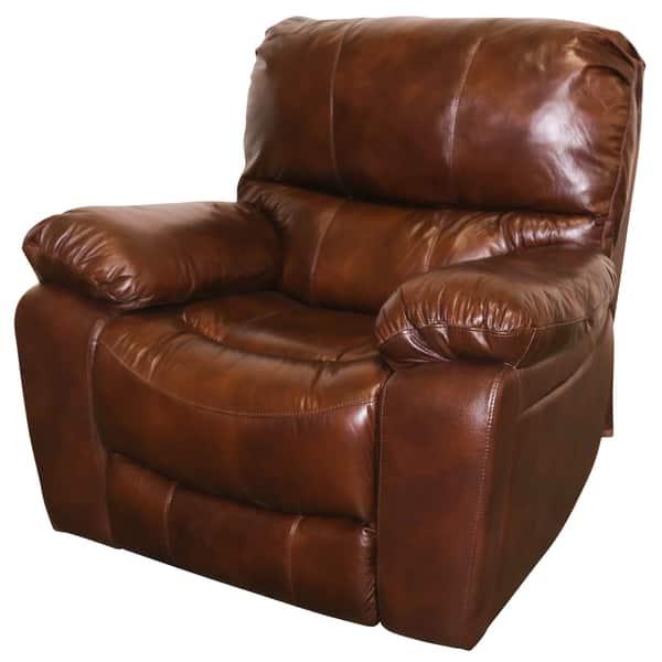 Stupendous Shop Porter Ramsey Cognac Top Grain Leather Power Glider Inzonedesignstudio Interior Chair Design Inzonedesignstudiocom
