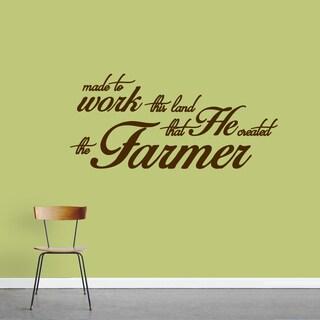 """The Farmer"" Vinyl Wall Decal (48"" x 22"")"