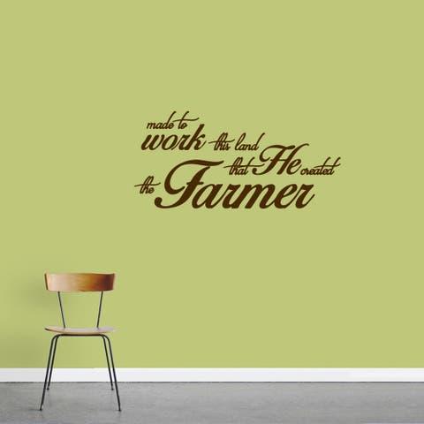 """The Farmer"" Vinyl Wall Decal (36"" x 17"")"