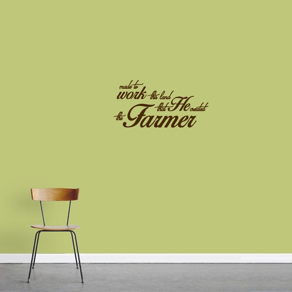 """The Farmer"" Vinyl Wall Decal (24"" x 12"")"