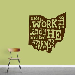 """""""The Farmer Ohio"""" Vinyl Wall Decal (33"""" x 36"""")"""