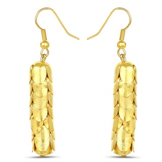 Liliana Bella Goldtone Handmade Fish Hook Dangle Earrings