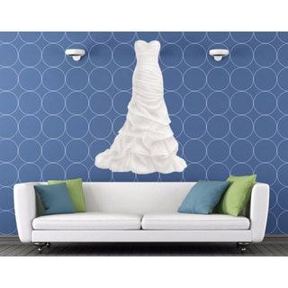 Full Color Wedding Gown Full Color Decal, Wedding Decor, Wedding Salon, Boutique Sticker Decal size 22x35
