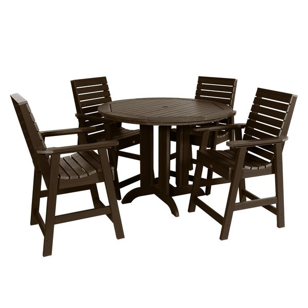 2b511478f66db7 Havenside Home Mandalay 5-piece 48-inch Round Counter-height Dining Set