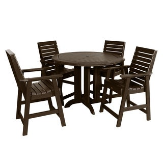 Weatherly 5pc Round Counter Dining Set