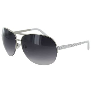 Guess Aviator GUF219 Women's Silver Frame Grey 64 mm Lens Sunglasses