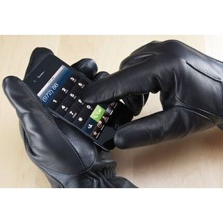 Leather Touch Screen Gloves with a free pair of Cotton Touch Screen Gloves