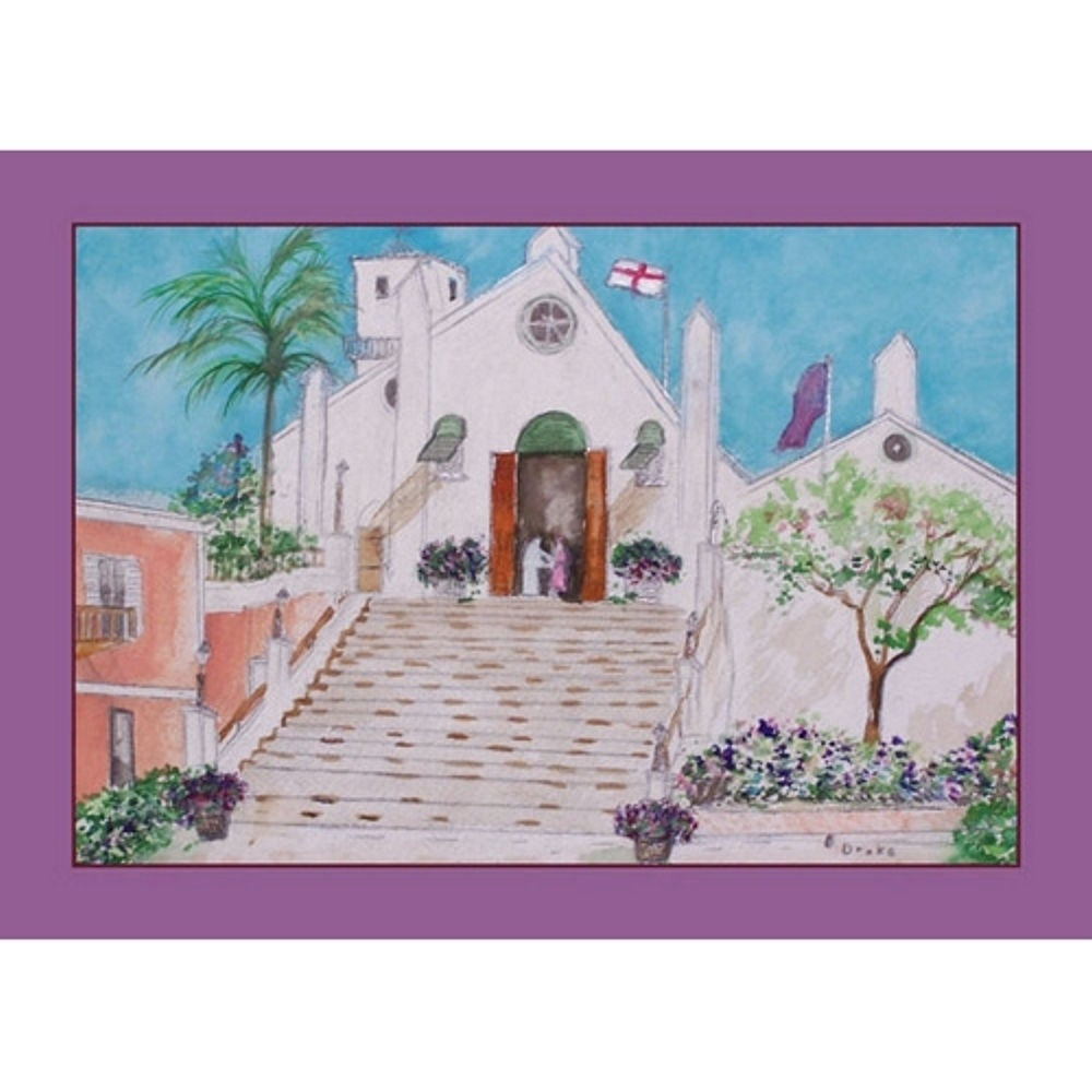 "Betsy Drake Church Place Mat Set of 4 (14""x18""), Multi (P..."