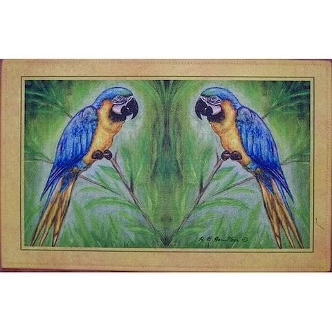 Blue Macaws Place Mat Set of 4