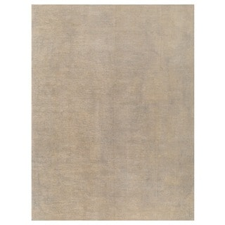 Herat Oriental Afghan Hand-knotted Vegetable Dye White Wash Oushak Wool Rug (9' x 12')