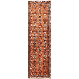 Herat Oriental Afghan Hand-knotted Vegetable Dye Turkoman Wool Runner (3' x 10'2)