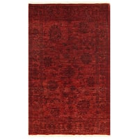 Herat Oriental Afghan Hand-knotted Over-dyed Oushak Wool Rug (3'10 x 6'3)