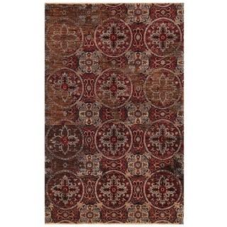 Herat Oriental Afghan Hand-knotted Vegetable Dye Khotan Wool Rug (4'1 x 6'5)