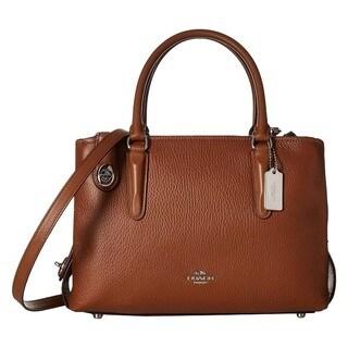 Coach Brookyln 28 Saddle Leather Carryall Satchel Handbag