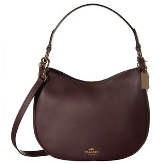 Coach Nomad Light Oxblood Leather Crossbody Handbag