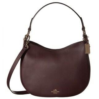 Coach Nomad Light Oxblood Leather Crossbody Handbag