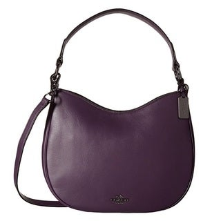 Coach Nomad Dark Aubergine Leather Crossbody Handbag