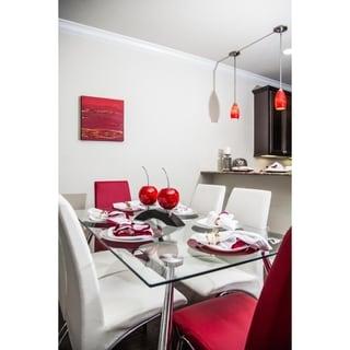 Artesana Home Red Pewter/Wood Cherries on Bridge Decorative Stand