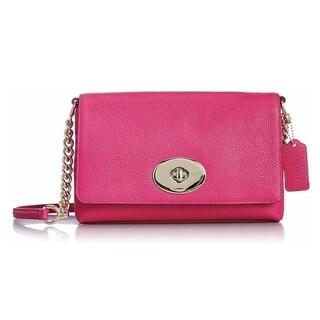 Coach Crosstown Cerise Leather Crossbody Handbag