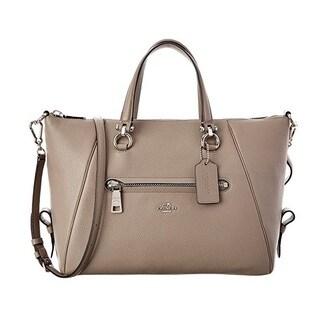 Coach Primrose Silver/Fog Leather Satchel Handbag