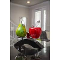 Artesana Home WC Apple Red and Pear Green Medium on a Twin Bridge Fruit Stand