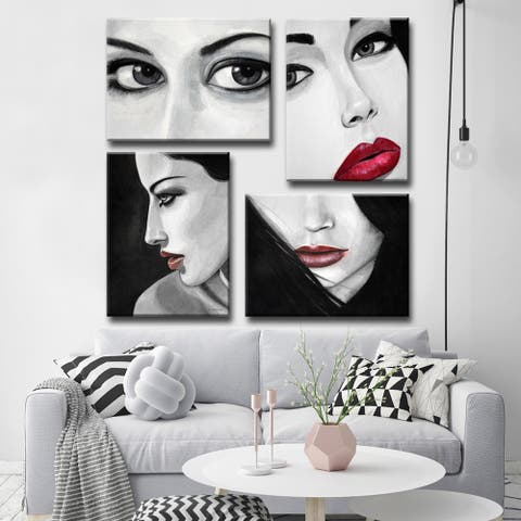 Allure I-IV' by Norman Wyatt, Jr. 4-Piece Wrapped Canvas Wall Art Set
