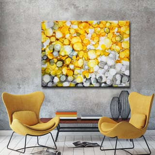 River Gold' by Norman Wyatt, Jr. Abstract Wrapped Canvas Wall Art