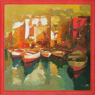 Alex Bertaina 'La Maison Rouge' Fine Art Print on Canvas