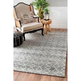 nuLOOM Geometric Moroccan Trellis Fancy Grey Area Rug (8' x 10') (As Is Item)