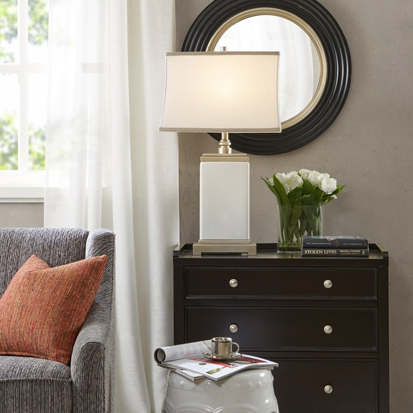 Madison Park Signature Colette Ivory Table Lamp