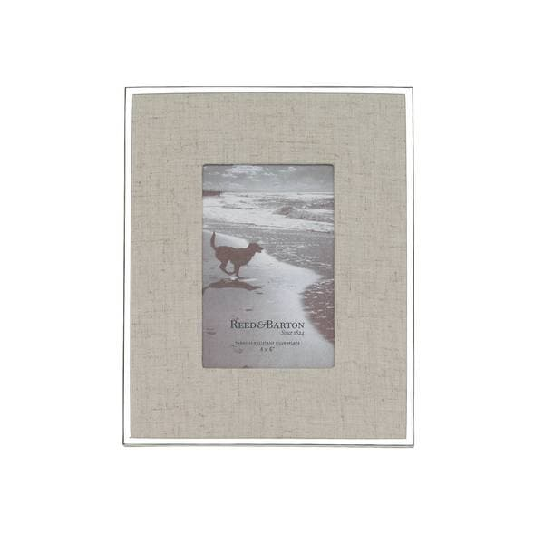 Shop Reed & Barton Linen Matte 4x6 Frame - Free Shipping Today ...