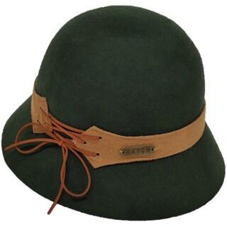 Hatch Laces Packable Wool Felt Cloche Hat