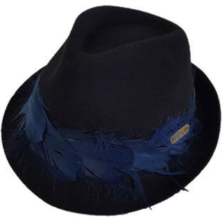 2ffda9dcb21 Hatch Plume Black Wool Felt Packable Fedora Hat - Free Shipping Today -  Overstock - 20910309