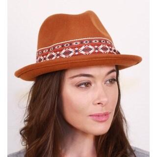 Hatch Gamboree Tan Packable Wool Felt Fedora Hat